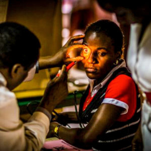 Ugandan Child Gets Eye Exam